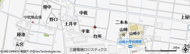 愛知県稲沢市祖父江町山崎周辺の地図