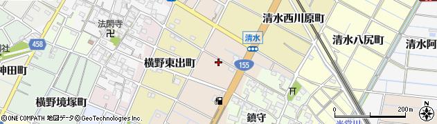 愛知県稲沢市清水郷西町周辺の地図
