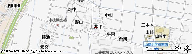 愛知県稲沢市祖父江町山崎(土井平)周辺の地図