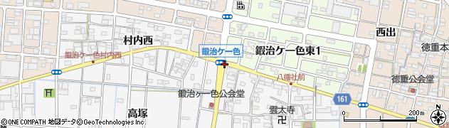 愛知県北名古屋市鍜治ケ一色(八島)周辺の地図