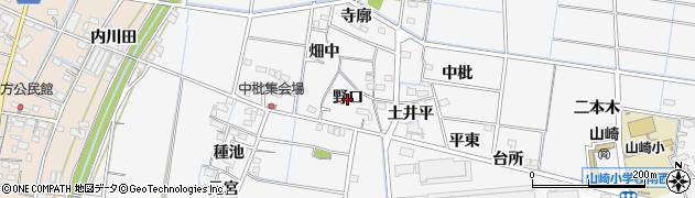愛知県稲沢市祖父江町山崎(野口)周辺の地図