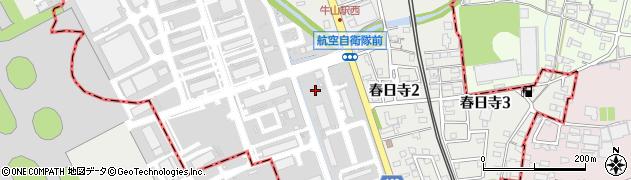 愛知県小牧市春日寺周辺の地図