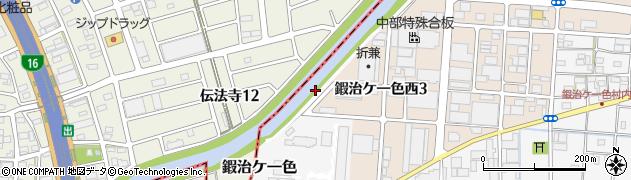 愛知県北名古屋市鍜治ケ一色(南中島)周辺の地図