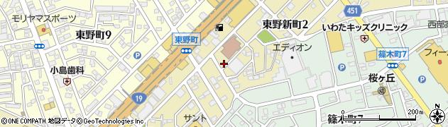 愛知県春日井市東野新町周辺の地図