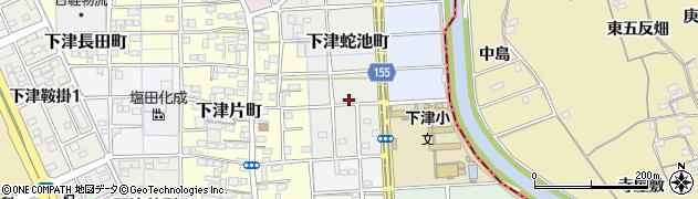 愛知県稲沢市下津蛇池町周辺の地図