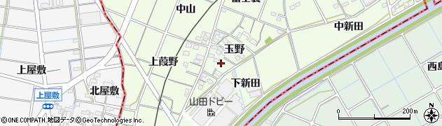 愛知県一宮市玉野(山)周辺の地図