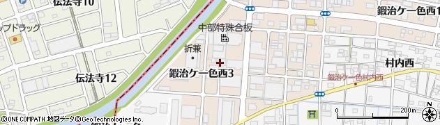 愛知県北名古屋市鍜治ケ一色西周辺の地図