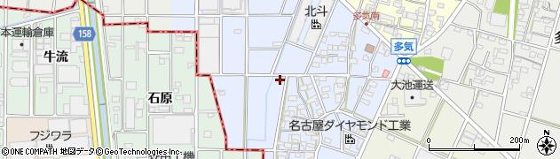 愛知県小牧市多気西町周辺の地図
