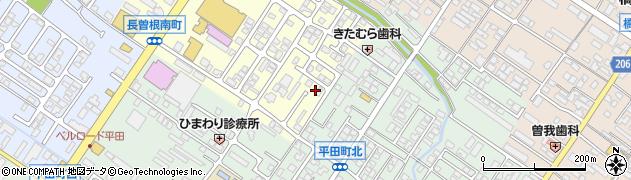 滋賀県彦根市長曽根南町周辺の地図