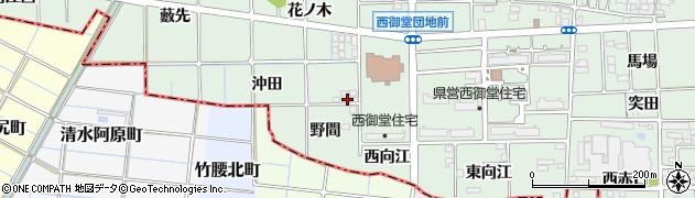 愛知県一宮市萩原町西御堂(沖田)周辺の地図