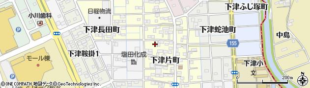 愛知県稲沢市下津片町周辺の地図