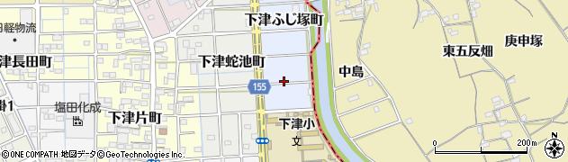 愛知県稲沢市下津ふじ塚町周辺の地図
