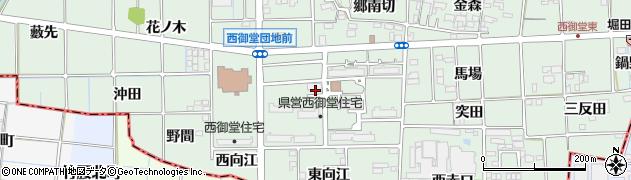 愛知県一宮市萩原町西御堂(五六田)周辺の地図