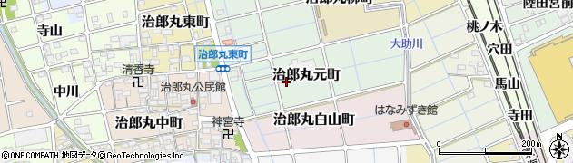 愛知県稲沢市治郎丸元町周辺の地図