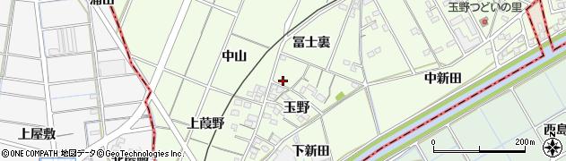 愛知県一宮市玉野(中山)周辺の地図