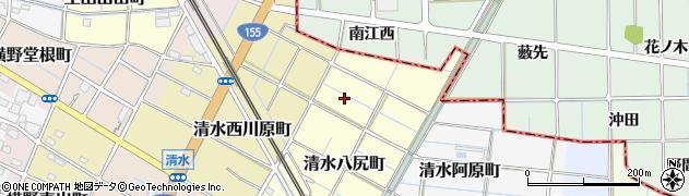 愛知県稲沢市清水八尻町周辺の地図