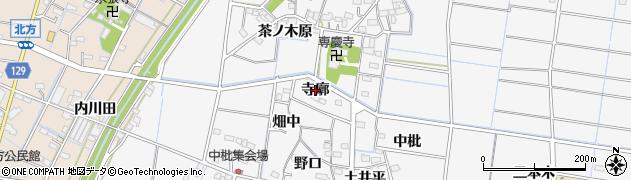 愛知県稲沢市祖父江町山崎(寺廓)周辺の地図