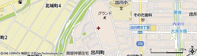 愛知県春日井市出川町周辺の地図