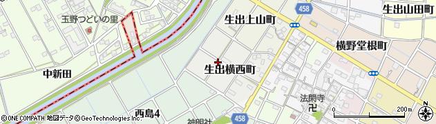 愛知県稲沢市生出横西町周辺の地図
