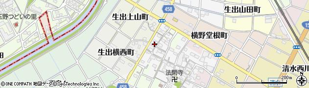 愛知県稲沢市横野町(西郷)周辺の地図