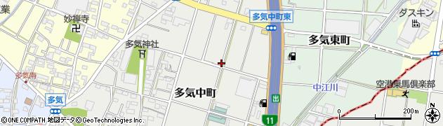 愛知県小牧市多気中町周辺の地図