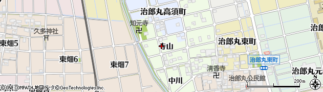 愛知県稲沢市稲島町(寺山)周辺の地図