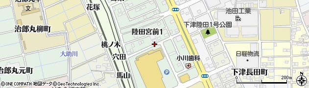 愛知県稲沢市陸田宮前周辺の地図