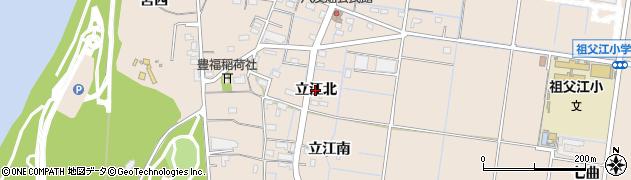 愛知県稲沢市祖父江町祖父江(立江北)周辺の地図