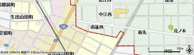愛知県一宮市萩原町西御堂(南江西)周辺の地図