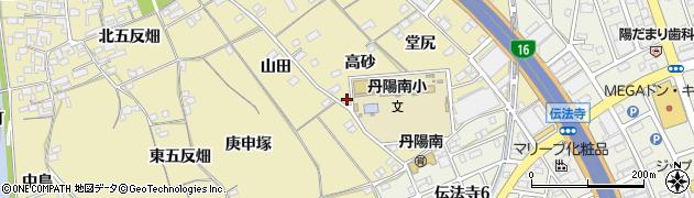 愛知県一宮市丹陽町九日市場(高砂)周辺の地図