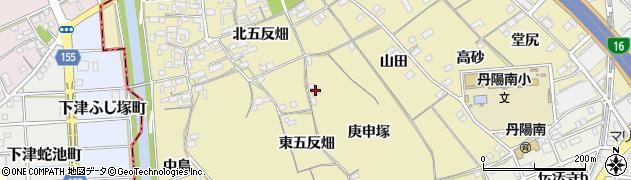 愛知県一宮市丹陽町九日市場(庚申塚)周辺の地図
