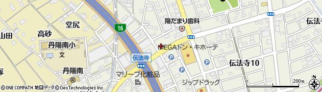 うまいや本店周辺の地図