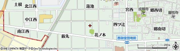 愛知県一宮市萩原町西御堂周辺の地図