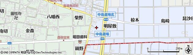愛知県一宮市萩原町中島周辺の地図