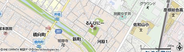 滋賀県彦根市河原周辺の地図