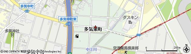 愛知県小牧市多気東町周辺の地図