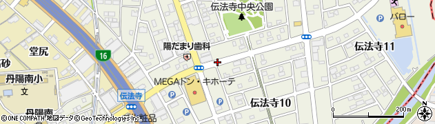愛知県一宮市伝法寺周辺の地図