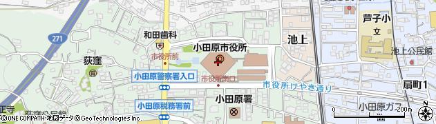 神奈川県小田原市周辺の地図