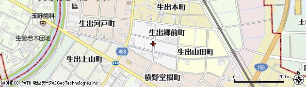 愛知県稲沢市生出郷前町周辺の地図