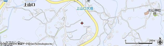神奈川県葉山町(三浦郡)上山口周辺の地図