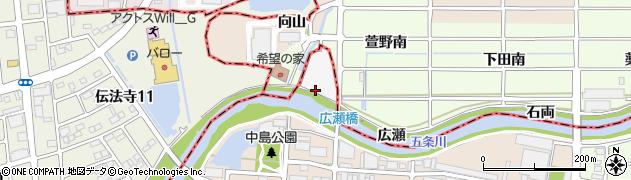 愛知県北名古屋市鍜治ケ一色(北襟)周辺の地図