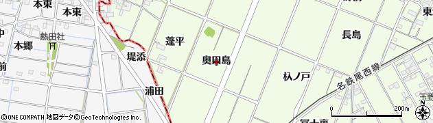 愛知県一宮市玉野(奥田島)周辺の地図