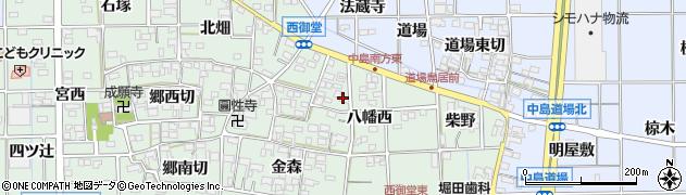 愛知県一宮市萩原町西御堂(八幡西)周辺の地図