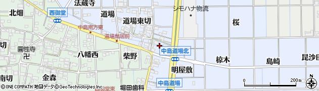 愛知県一宮市萩原町中島(高道)周辺の地図