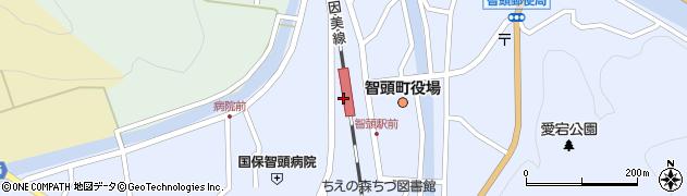 鳥取県八頭郡智頭町周辺の地図