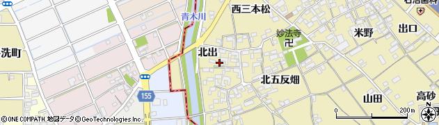 愛知県一宮市丹陽町九日市場(北出)周辺の地図