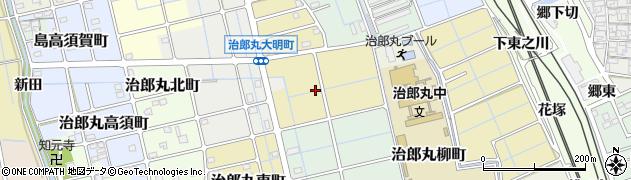 愛知県稲沢市治郎丸神木町周辺の地図