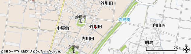 愛知県稲沢市祖父江町祖父江(外川田)周辺の地図