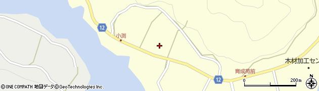 京都府南丹市美山町小渕周辺の地図