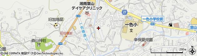 神奈川県葉山町(三浦郡)一色周辺の地図